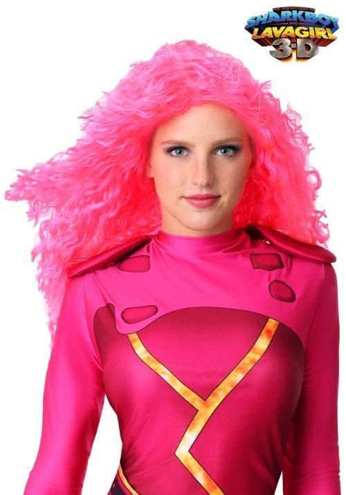 Adult Pink Lava Girl Wig