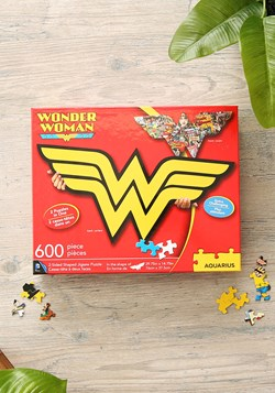 Wonder Woman Double Sided Logo Shaped 600 Pc Puzzle