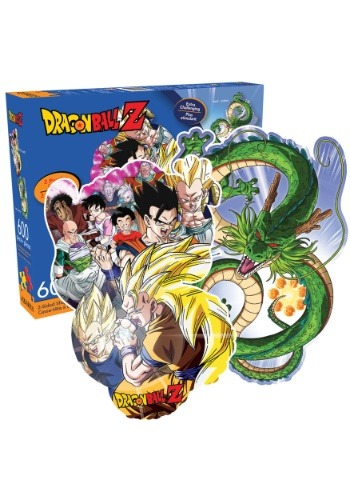 Dragon Ball Z Double Sided Dragon Shaped 600 pc Puzzle