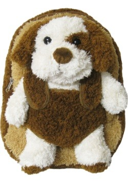 Brown Puppy Plush Animal Backpack
