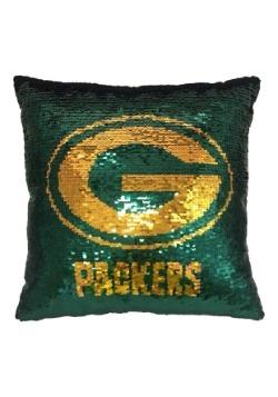 Green Bay Packers Team Logo Sequin Pillow