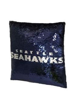 Seattle Seahawks Team Logo Sequin Pillow Alt 2