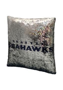 Seattle Seahawks Team Logo Sequin Pillow Alt 4