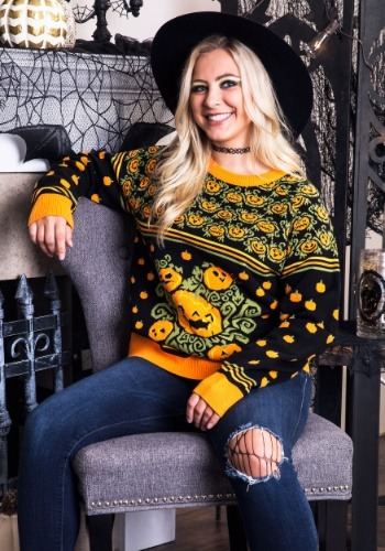 Adult Pumpkin Patch Ugly Halloween Sweater