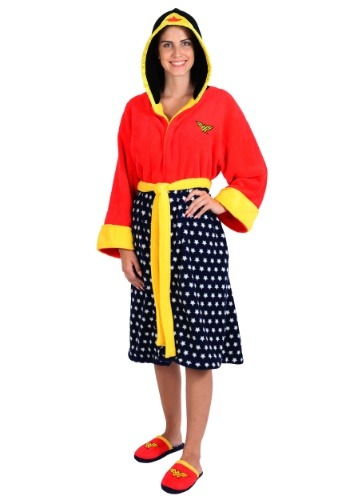 Wonder Woman Hooded Fleece Robe and Slipper Set