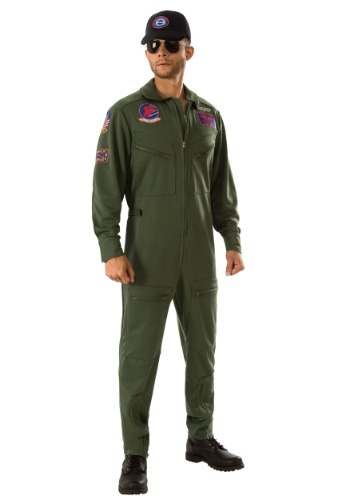 Top Gun Jumpsuit Plus Size Adult Costume