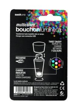 Multicolor Bottle Light USB Rechargeable alt 2