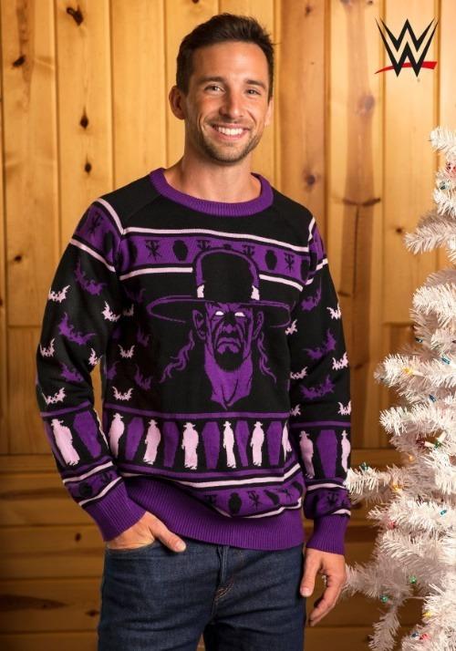 Adult WWE Undertaker Ugly Christmas Sweater update