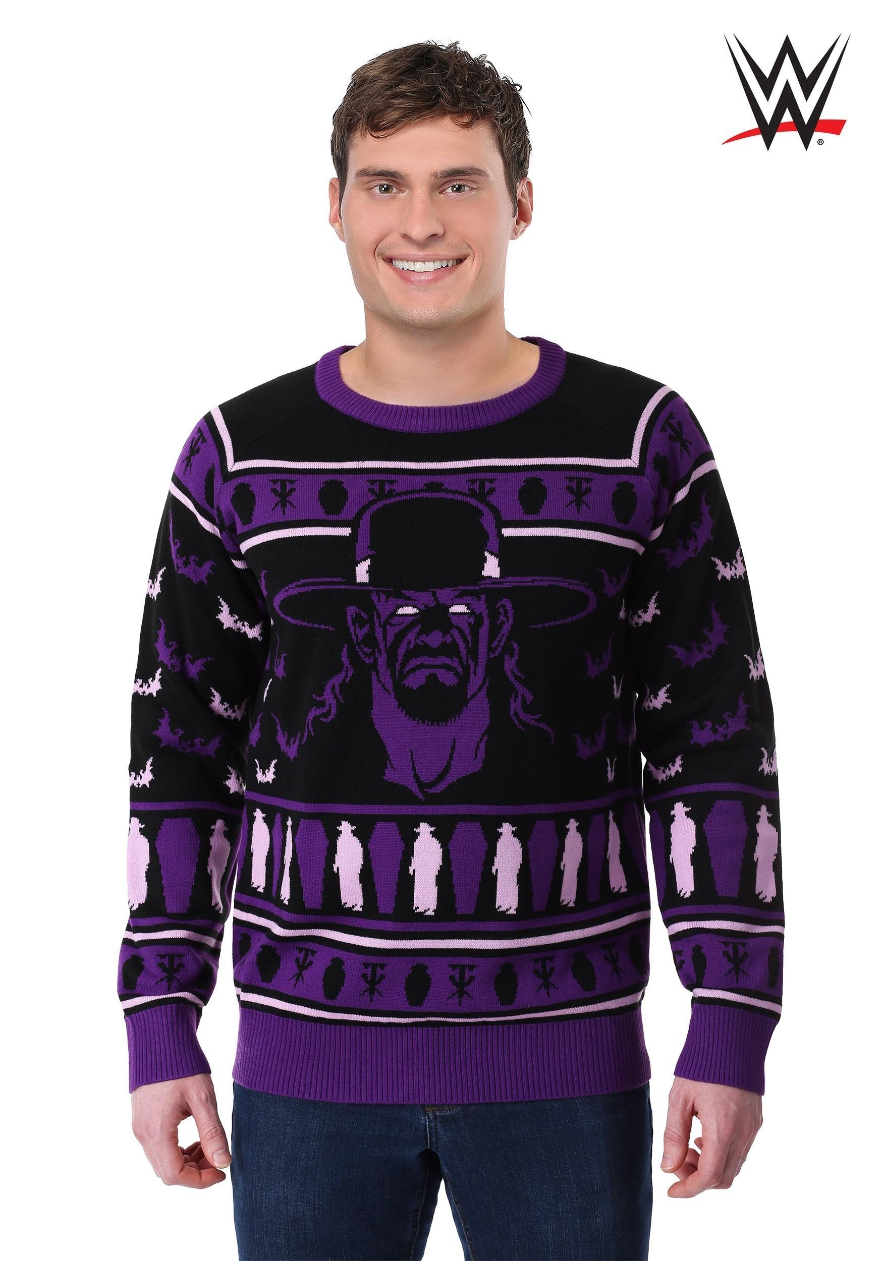 Ugliest Christmas Sweater.Adult Wwe Undertaker Ugly Christmas Sweater