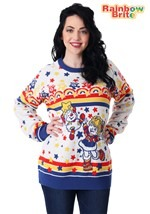 Adult Classic Rainbow Brite Ugly Christmas Sweater alt1