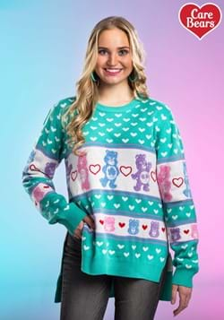 Women's Hi-Lo Care Bears Ugly Christmas Sweater