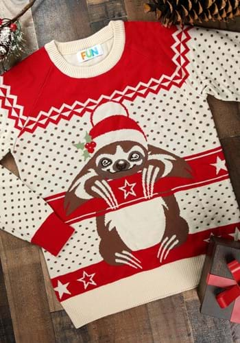 Adult Sloth Ugly Christmas Sweater update