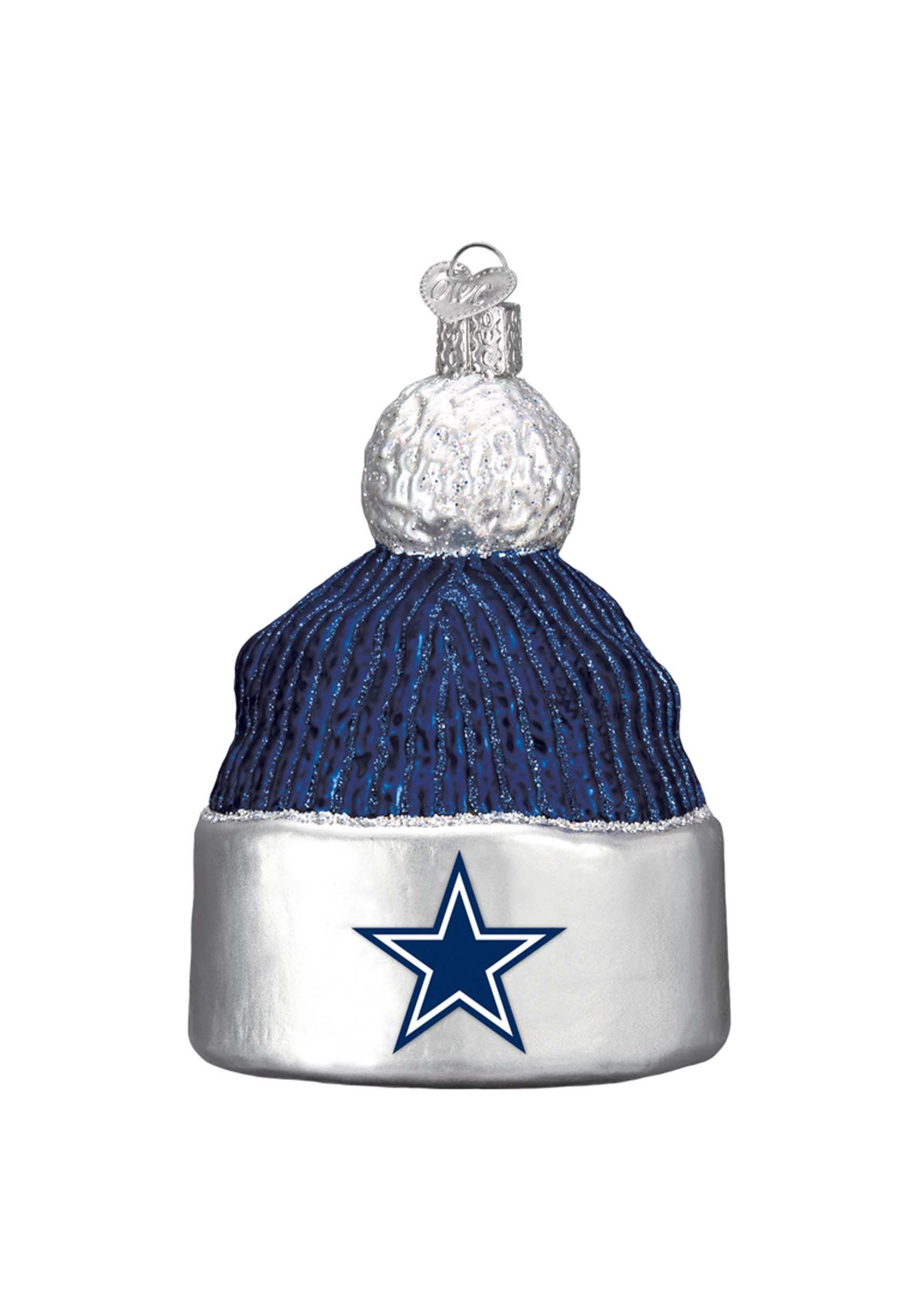 Dallas Cowboys Beanie Glass Ornament addac5f72