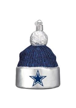 Dallas Cowboys Beanie Glass Ornament
