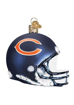 Chicago Bears Helmet Glass Ornament