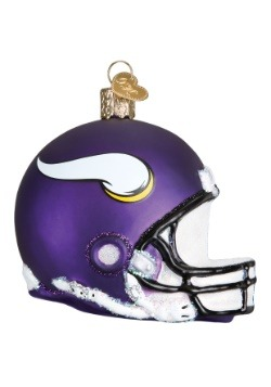 Minnesota Vikings Helmet Glass Ornament