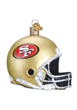 San Francisco 49ers Helmet Glass Ornament