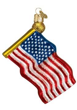 Star Spangled Banner Glass Ornament