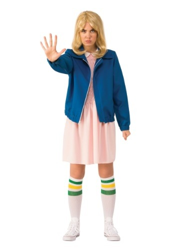 Eleven Adult Stranger Things  Blue Jacket Costume
