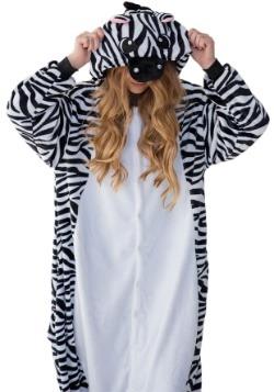 Adult Zebra Yumio Pajama Costume Alt1