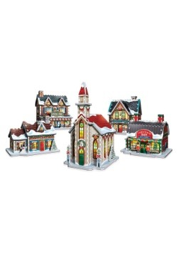 Christmas Village 3D Jigsaw Puzzle- 5 Building Collection 2