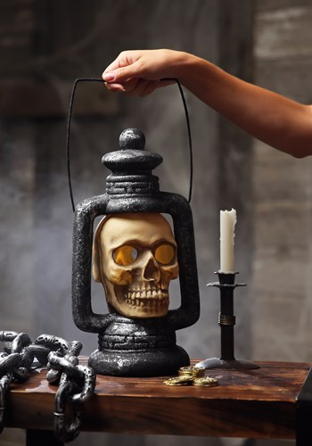 Skull Light Up Spooky Lantern