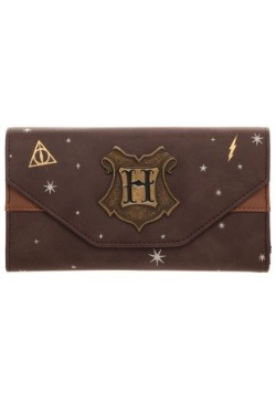 Harry Potter Hogwarts Crest Faux Leather Tri-Fold Wallet