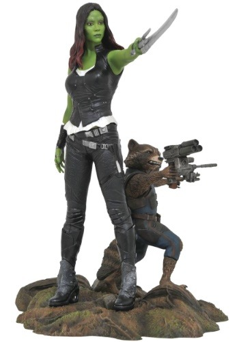 Marvel Gallery GOTG Gamora & Rocket Raccoon PVC Figure