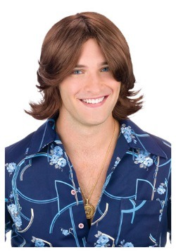 Brown Ladies Man Wig For Men