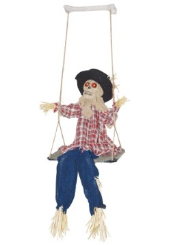Swinging Evil Scarecrow Halloween Decor