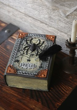 Spellbook with Moving Feather Halloween Decoration