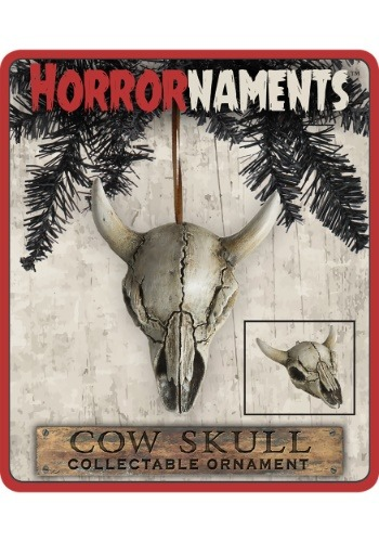 Horrornaments Cow Skull Molded Ornament