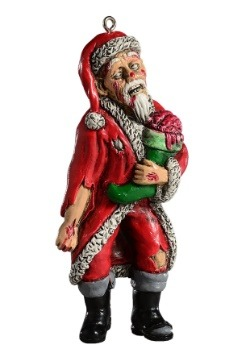 Horrornaments Zombie Santa Molded Ornament