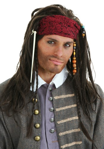 Authentic Men's Pirate Wig
