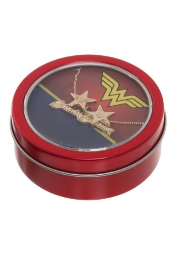 Wonder Woman Necklace & Earrings Gift Tin