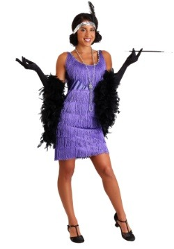 Fringed Women's Purple Flapper Costume