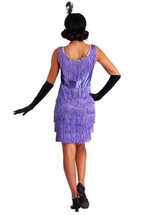 Fringed Women's Purple Flapper Costume