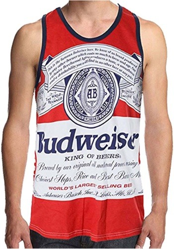 Men's Budweiser King of Beers Faded Tank