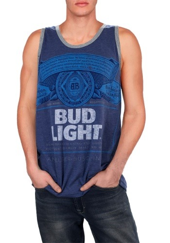 Men's Bud Light Distressed Tank1