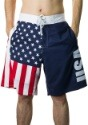 Men's USA Flag Fourth of July Swim Board Shorts