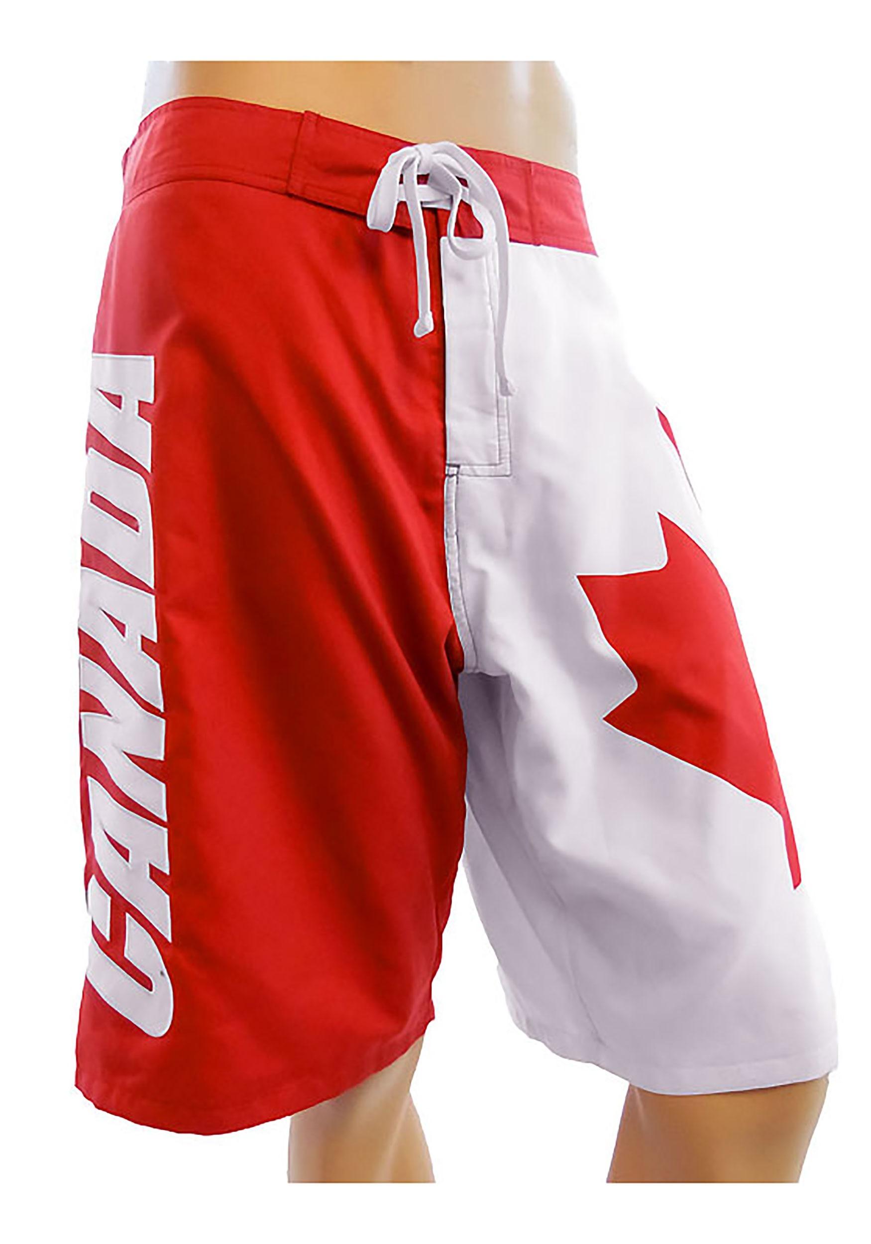 2fe21fd445 Mens Canadian Flag Swim Board Shorts