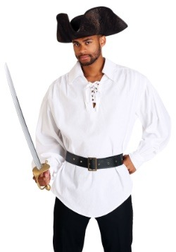 White Pirate Mens Shirt