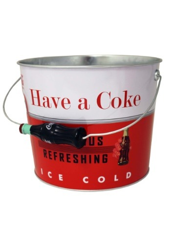 Coca-Cola Embossed Galvanized Beverage Bucket