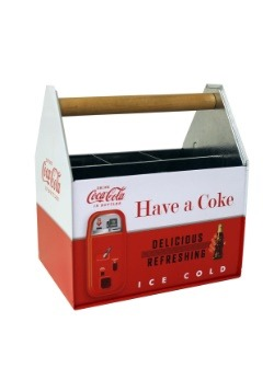 Coca-Cola Embossed Napkin & Utensil Holder