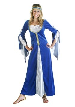 Womens Blue Regal Renaissance Costume