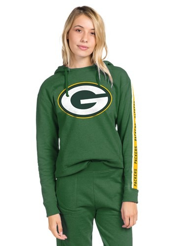Women's Green Bay Packers Hunter Green Fleece Hoodie