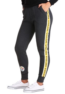 Women's True Black Pittsburgh Steelers Fleece Joggers