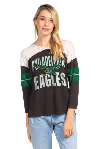 Women's Philadelphia Eagles Throwback Football Tee