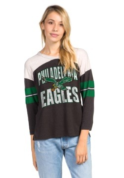 Women's Philadelphia Eagles Throwback Football Tee