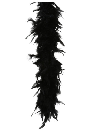 80 Gram Black Feather Boa